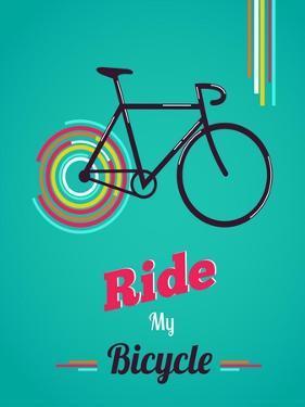 Bicycle, Vintage Poster by Marish