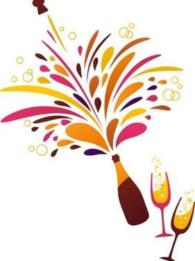 Champagne Splash Clean Funky Background by Marish