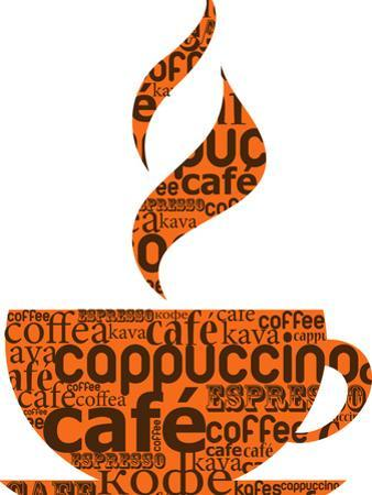 Cup Of Coffee Made From Typography by Marish