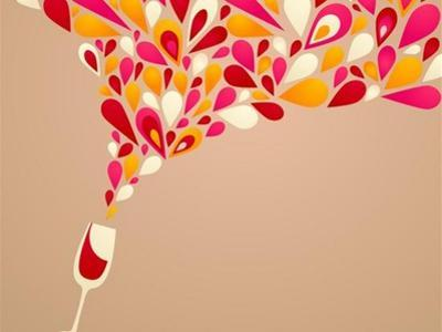 Funky Colorful Retro Wine Background by Marish