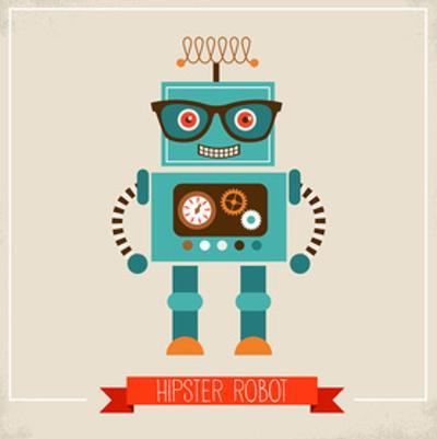 Hipster Robot Toy Icon And Illustration by Marish