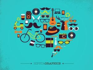 Hipster Speech Bubble With Icons by Marish