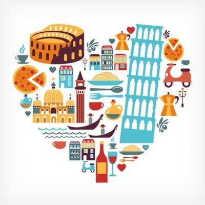 Italy Love - Heart by Marish