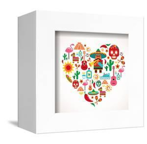 Mexico Love - Heart With Set Ofs by Marish