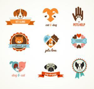 Pets Vector Icons - Cats and Dogs by Marish