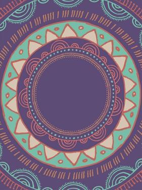 Tribal Bohemian Mandala Background with round Ornament Pattern by Marish
