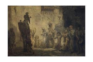 Oriental Wedding, 1911 on Canvas by Marius Bauer