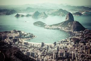 Rio De Janeiro, Brazil. Suggar Loaf And Botafogo Beach Viewed From Corcovado by Mariusz Prusaczyk
