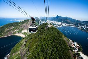 The Cable Car To Sugar Loaf In Rio De Janeiro by Mariusz Prusaczyk