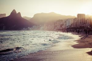 View Of Ipanema Beach In The Evening, Brazil by Mariusz Prusaczyk