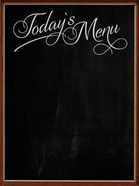 Wooden Picture Frame Chalkboard Blackboard Used as Today's Menu by MarjanCermelj