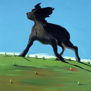 Amazing Black Dog, 2000 by Marjorie Weiss