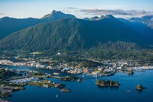 Aerial view of Sitka, Baranof Island, Alexander Archipelago, Southeast Alaska, USA by Mark A Johnson