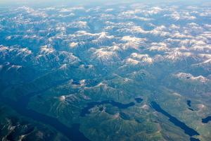 Aerial view of the mountains of Southeast Alaska, USA by Mark A Johnson