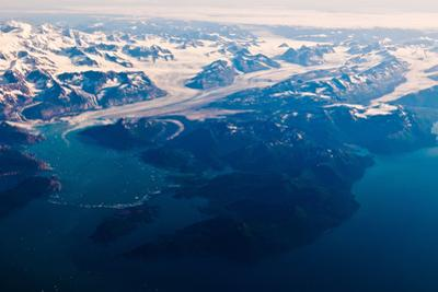 Aerial view of Wrangell-St. Elias National Park, Alaska by Mark A Johnson