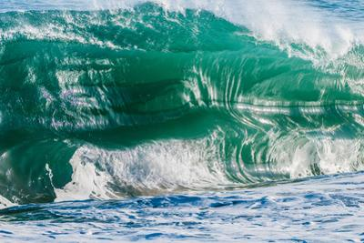 Double Up-Wave breaking off the Na Pali coast of Kauai, Hawaii by Mark A Johnson