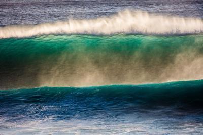 Large breaking wave, West Oahu, Hawaii by Mark A Johnson
