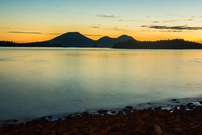 Mt. Edgecumbe at dusk, Kruzof Island, Sitka, Alaska by Mark A Johnson