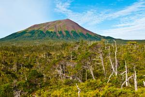 Mt. Edgecumbe, Kruzof Island, Southeast Alaska by Mark A Johnson