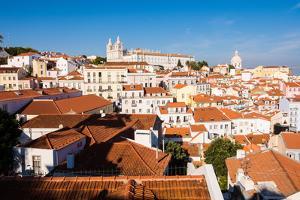 Portas do Sol, Lisbon, Portugal by Mark A Johnson