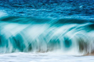 Power Blur-Slow shutter speed of a powerful Hawaiian surf by Mark A Johnson