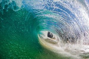 Power Play-Wave breaking off a beach, Na Pali Coast, Kauai, Hawaii, USA by Mark A Johnson