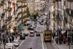 Rua dos Clerigos, Porto, Portugal by Mark A Johnson
