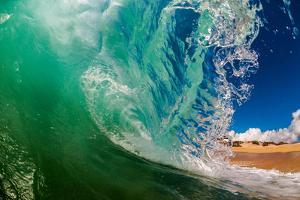 Shorebreak wave, Baja California Sur, Mexico by Mark A Johnson