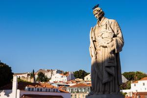 Statue of San Vincent, Portas do Sol, Lisbon, Portugal by Mark A Johnson