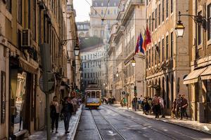 Street Car, Lisbon, Portugal by Mark A Johnson