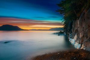 Sunset along the Sitka, Alaska coast by Mark A Johnson