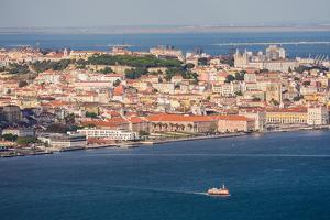 Tagus River & Lisbon, Portugal by Mark A Johnson