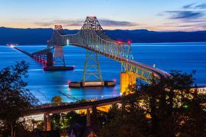 The Astoria-Megler Bridge over the Columbia River, Astoria, Oregon, USA by Mark A Johnson