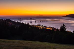 The Columbia River & Astoria, Oregon, USA by Mark A Johnson