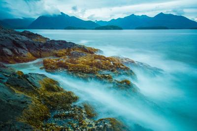 The shores of Bamdoroshni Island off the coast of Sitka, Alaska by Mark A Johnson