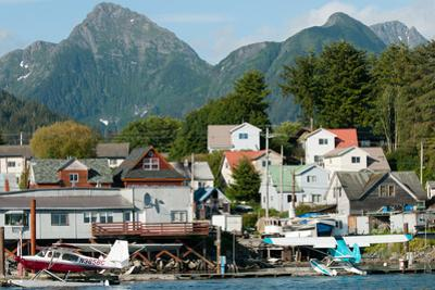 The town of Sitka & the spectacular mountains of Baranof Island, Southeast Alaska by Mark A Johnson