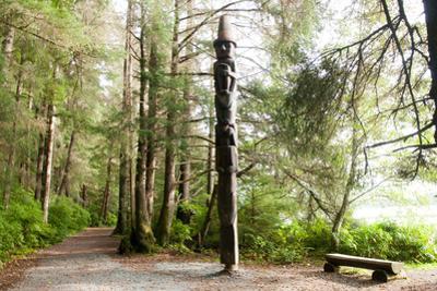 Totem Pole, Sitka National Historic Park aka Totem Park, Sitka, Alaska by Mark A Johnson