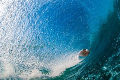 Water & Earth-Breaking wave off of North Stradbroke Island, Queensland, Australia by Mark A Johnson