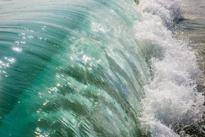 Wave folding over as it breaks in Kailua Bay, Oahu, Hawaii by Mark A Johnson