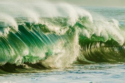 Wave on Wave-Super powerful breaking ocean wave, Kauai, Hawaii by Mark A Johnson