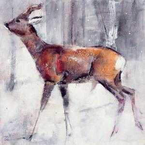 Buck in the Snow, 2000 by Mark Adlington