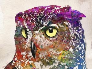Owl Drawing by Mark Ashkenazi