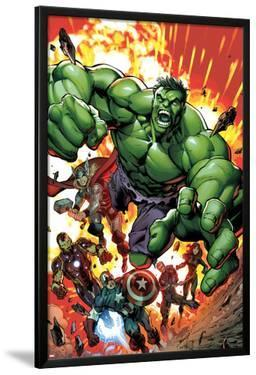 Avengers Assemble No.2 Cover: Hulk, Thor, Iron Man, Captain America, Hawkeye, and Black Widow by Mark Bagley