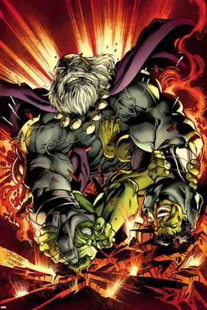 Hulk No. 16 Cover, Featuring: Maestro, Hulk by Mark Bagley