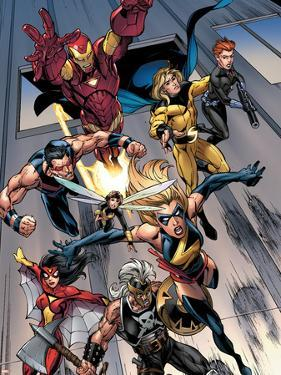 The Mighty Avengers No.7 Group: Ms. Marvel by Mark Bagley