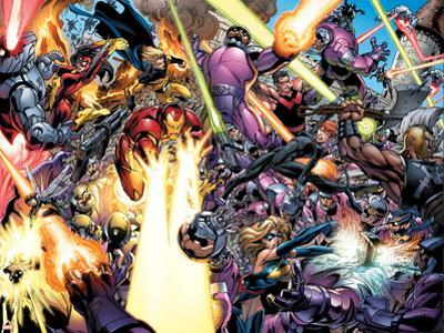 The Mighty Avengers No.9 Group: Iron Man, Wasp and Black Widow by Mark Bagley