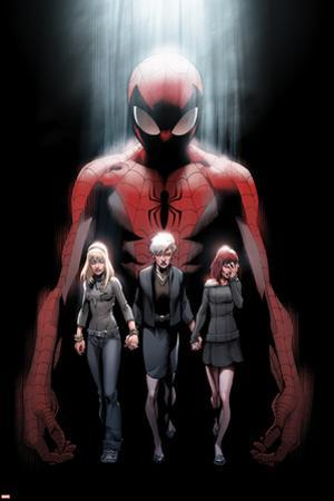 Ultimate Fallout No.1 Cover: Spider-Man, Gwen Stacy, May Parker, and Mary Jane Watson by Mark Bagley