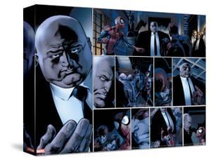 Ultimate Spider-Man No.110 Headshot: Spider-Man, Daredevil, Kingpin, and Vanessa Fisk Fighting by Mark Bagley