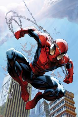Ultimate Spider-Man No.156 Cover: Spider-Man Jumping by Mark Bagley