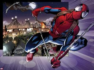 Ultimate Spider-Man No.157: Spider-Man Swinging by Mark Bagley